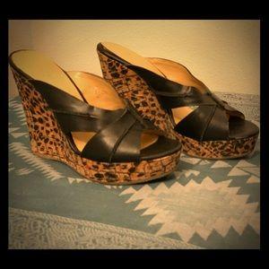 Nine West Leopard Wedge Heel